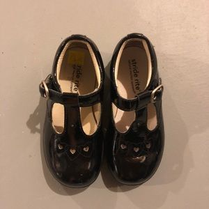 Stride Rite Black Patent Toddler Shoes